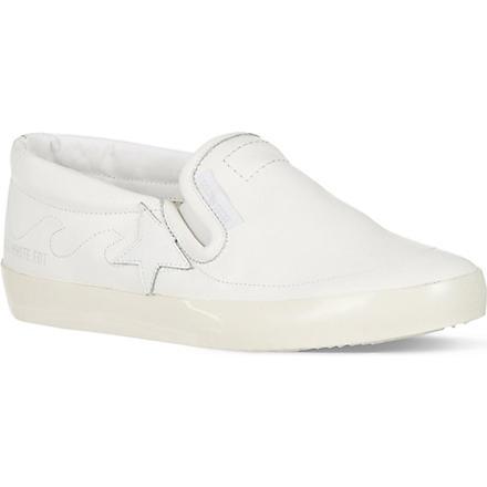 GOLDEN GOOSE Hanami leather skate shoes (White