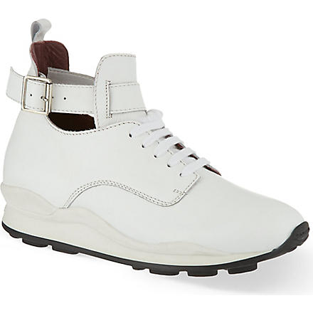 OPENING CEREMONY Leather hi-top trainers (White
