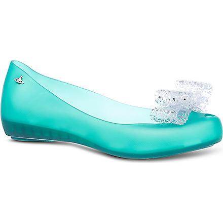 MELISSA + VIVIENNE WESTWOOD Ultra-girl lace bow pumps (Green