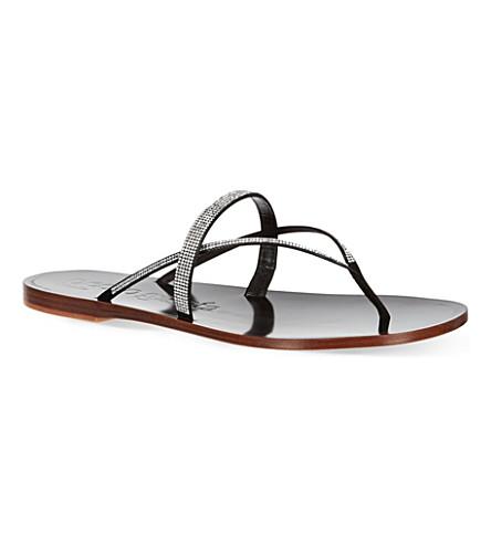 PEDRO GARCIA Zuriel crystal sandals (Black