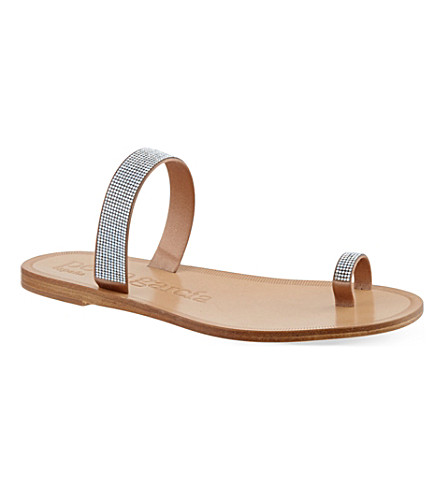 PEDRO GARCIA Zarina Swarovski crystal sandals (Camel
