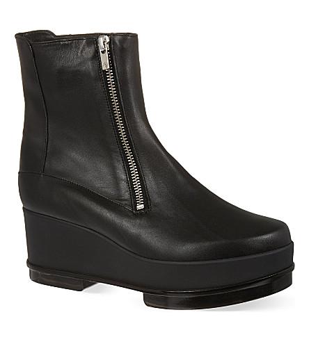 ROBERT CLERGERIE Yensio flatform boots (Black
