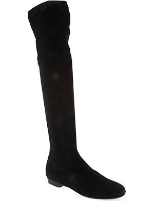 ROBERT CLERGERIE Fissah suede knee-high boots