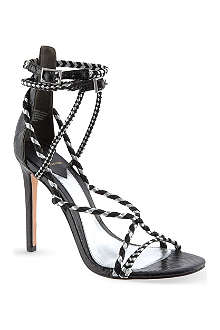 B BY BRIAN ATWOOD Linares snake heeled sandals