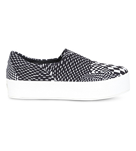 OPENING CEREMONY Abstract-print slip-on trainers (Blk/white
