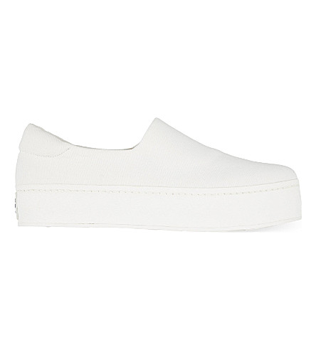 OPENING CEREMONY Twill flatform trainers (White