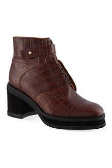 PURIFIED Patricia croc-embossed ankle boots