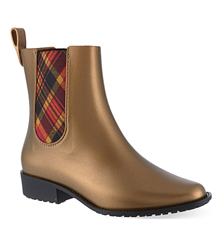 MELISSA + VIVIENNE WESTWOOD Chelsea riding boot (Gold