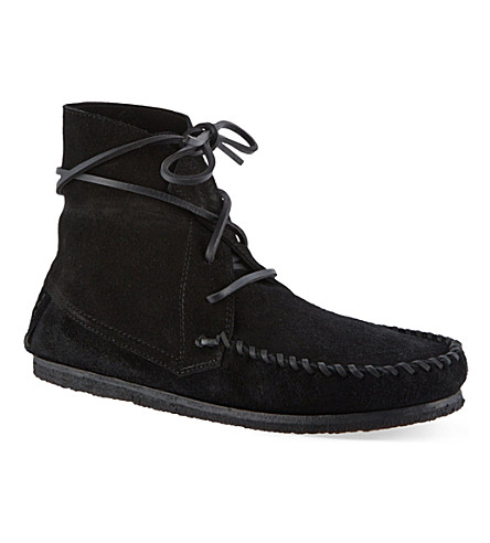 ISABEL MARANT Flavie suede moccasin ankle boots (Black
