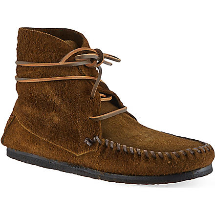 ISABEL MARANT Flavie suede moccasin ankle boots (Brown