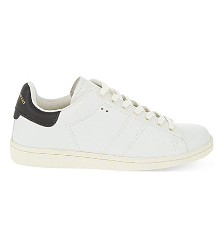 ISABEL MARANT Bart lace up leather trainers (White