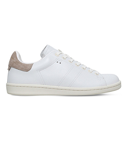 ISABEL MARANT Bart leather trainers (Beige