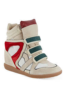 ISABEL MARANT Wila suede wedge hi-tops