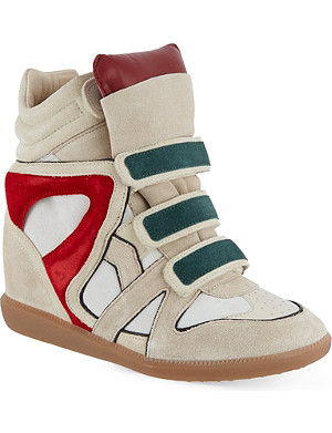 ISABEL MARANT Wila suede wedge trainers