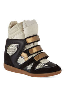 ISABEL MARANT Bonny hi-top wedged sneakers