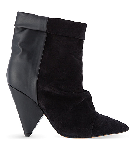 ISABEL MARANT Andrew suede and leather ankle boots (Black