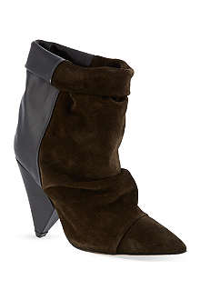 ISABEL MARANT Andrew suede and leather ankle boots