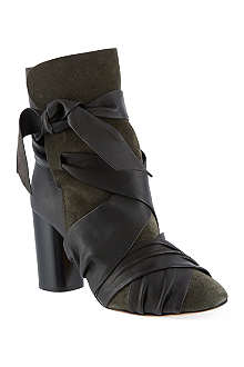 ISABEL MARANT Azel suede and leather ankle boots