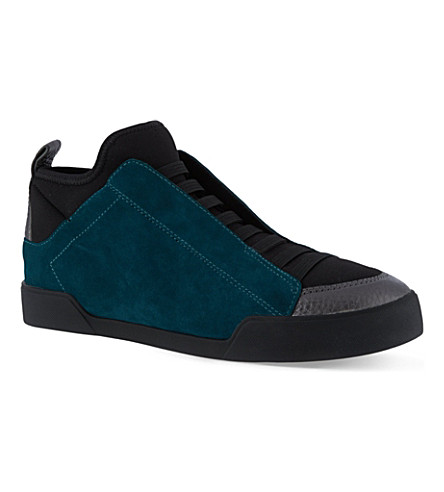 3.1 PHILLIP LIM Morgan high-top trainers (Teal