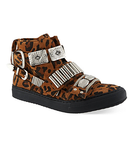 TOGA Losfield hi-top trainers (Brown/oth