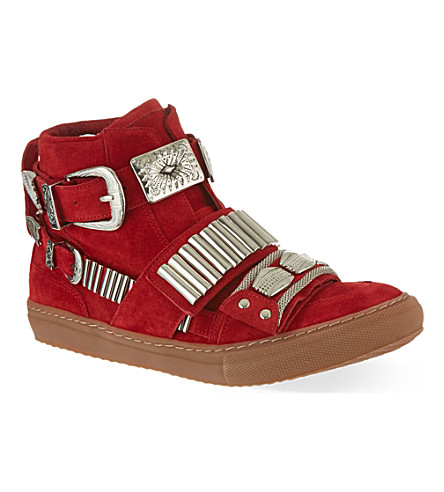 TOGA Losfield hi-top trainers (Red