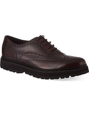 CHURCH Indigo leather brogues