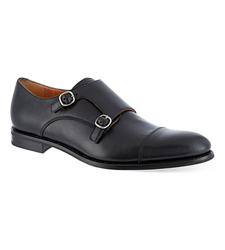 CHURCH Liverpool double monk shoes (Black