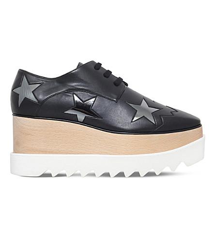STELLA MCCARTNEY 艾丽斯斯星仿皮革平台鞋吧 (灰色