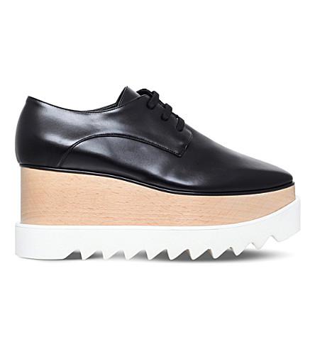 STELLA MCCARTNEY Elyse faux-leather flatform brogues (Black