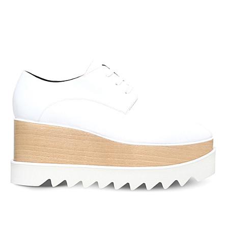 STELLA MCCARTNEY 艾丽斯斯仿皮革平台鞋吧 (白色