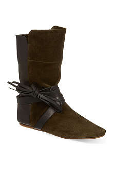 ISABEL MARANT Nira suede and leather boots