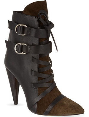 ISABEL MARANT Royston suede and leather ankle boots