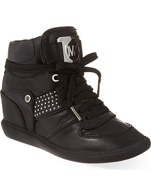 MICHAEL MICHAEL KORS Krista high-top wedge sneakers