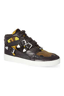 MICHAEL MICHAEL KORS Camouflage leather hi-top trainers