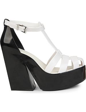 MELISSA Strips colourblock wedge sandals