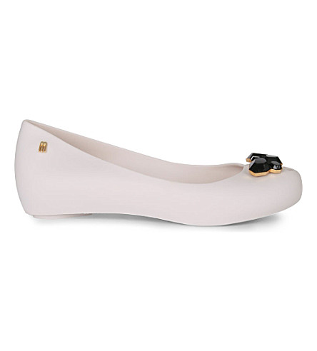MELISSA Ultragirl crystal-studded shoes (White