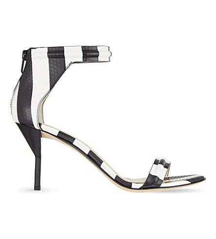 3.1 PHILLIP LIM Martin striped sandals (Blk/white