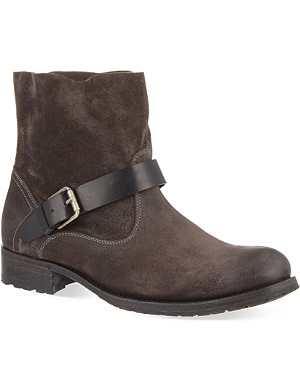 N.D.C MADE BY HAND Biker low suede ankle boots