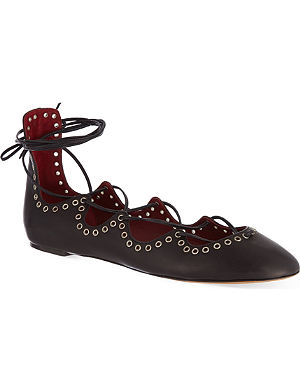 ISABEL MARANT Leo lace-up pumps
