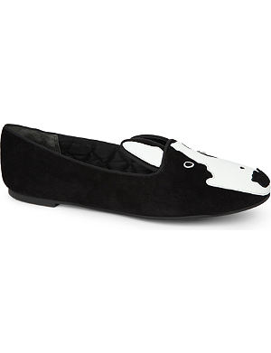 MARC BY MARC JACOBS Dog face suede slippers
