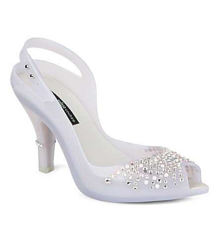 MELISSA Lady Dragon wedding court shoes (Winter wht