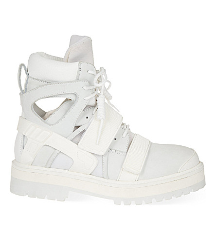 HOOD BY AIR Avalanche boots (White