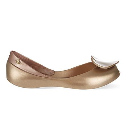 MELISSA + VIVIENNE WESTWOOD Queen ballet flats (Gold