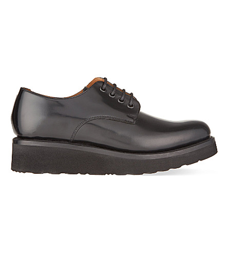 GRENSON Ivy platform Derby shoes (Black