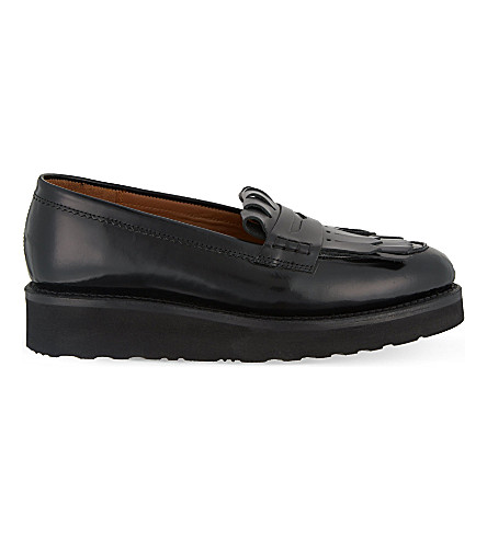 GRENSON Juno fringed loafers (Black