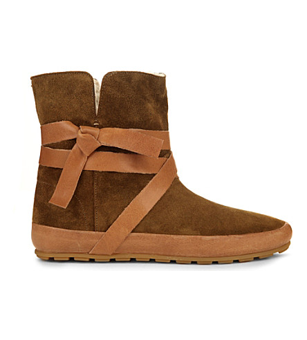 ISABEL MARANT Nygel suede and shearling ankle boots (Brown