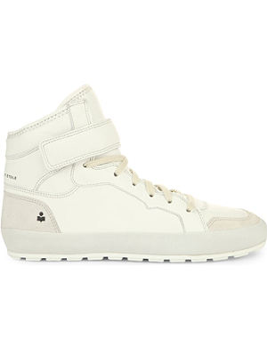 ISABEL MARANT Bessy leather and suede high-top trainers