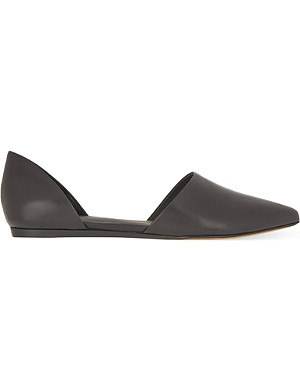 VINCE Nina leather pointed-toe flats