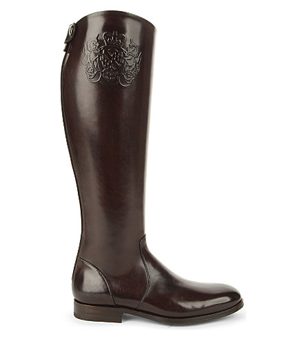 ALBERTO FASCIANI 33025 leather riding boots (Dark brown