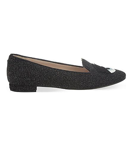 CHIARA FERRAGNI Flirting slipper flats (Black